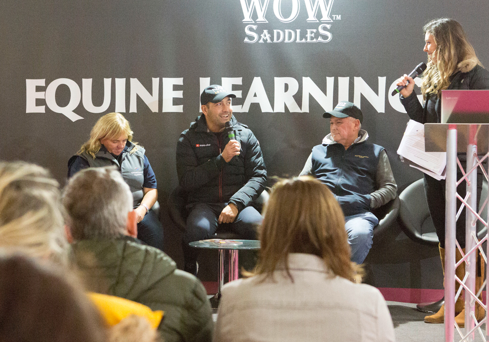 Ask the experts for horse care advice and triang tips in the Equine Learning Zone at your Horse Live